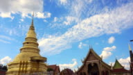 Pagoda and temple in North of Thailand, Lamphun video