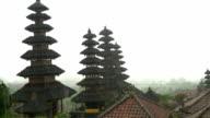 WS Pagodas At Pura Besakih In Storm video