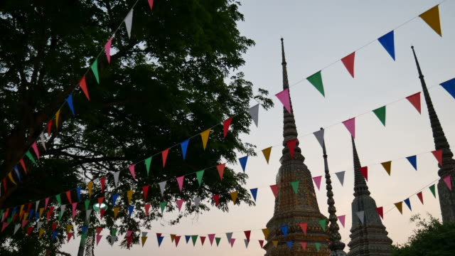 Pagodas in temple video