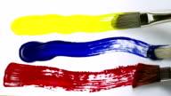 Paint brush stroke, Slow Motion video