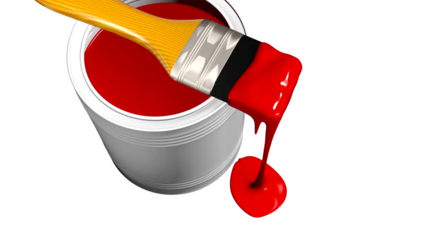 Paint can and paintbrush video