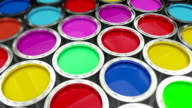 Paint cans flythrough video