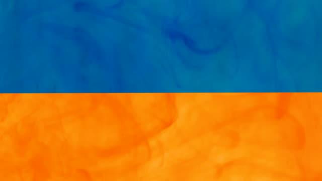 paint flag of Ukraine video