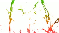 Paint splashes in slow motion - with alpha video