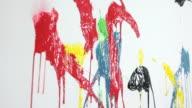 Paint splats video