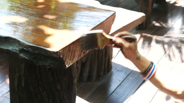 Paint Surface color on wooden video