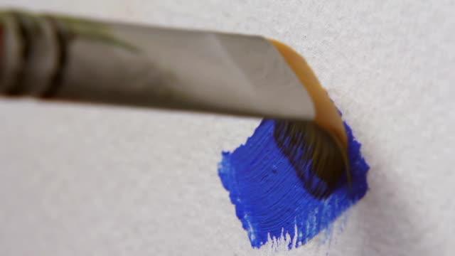 Paintbrush, Blue Color video