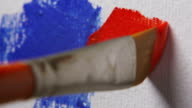 Paintbrush, Red Color video