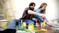 Paintbrushing and fun video