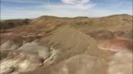 painted desert - Aerial View - Arizona,  Navajo County,  United States video