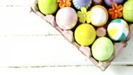 Painted Easter eggs in the nest video