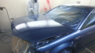 Painting a blue car video
