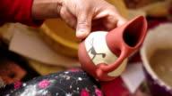 Painting a Terracotta Jug video