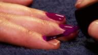 Painting fingernails video