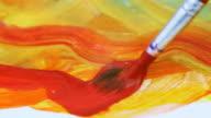 Painting, macro video