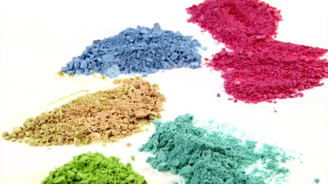 Painting medium colorful powder. video