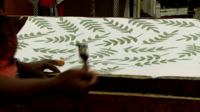 Painting on material fashion print making video