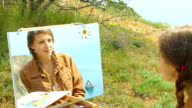 painting - portrait of a girl video