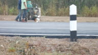 painting road lines video