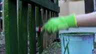 Painting wooden fence video