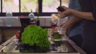 Pair in love fix lunch in apartment video