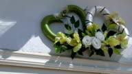 Pair of Pretty Heart Floral Wreaths video