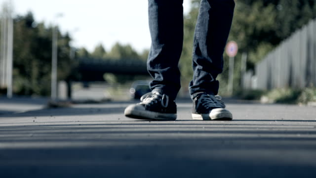 A Pair of Sneakers Tapping and Stomping video