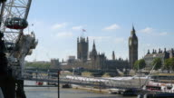 Palace Of Westminster Viewed From London Eye Pier (UHD) video