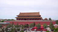 Palaces(Gugong), pagodas inside the territory of the Forbidden City Museum in Beijing video
