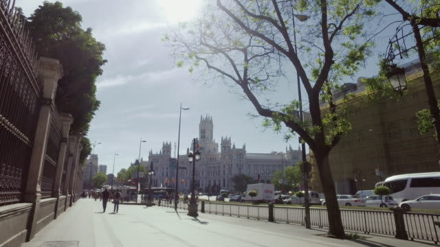 Palacio de Comunicaciones at Plaza Cibeles in Madrid, Spain video