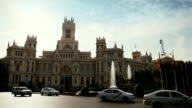 Palacio de Comunicaciones at Plaza Cibeles, Madrid, Spain video