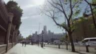 Palacio de Comunicaciones at Plaza Cibeles in Madrid, Spain video