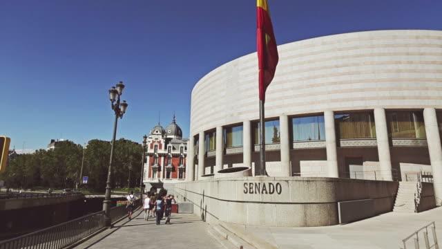 Palacio del Senado or Senate office building in Madrid video