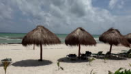Palapa Perfect Beach Shade - Closeup Pan video