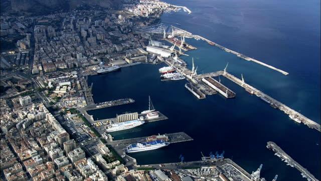 Palermo Docks  - Aerial View - Sicily, Italy video