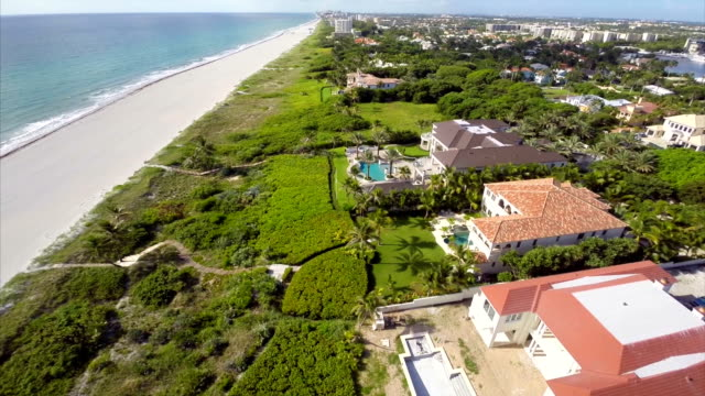 Palm Beach Florida aerial video video