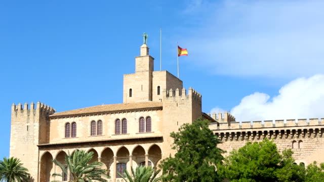 Palma de Majorca - house with spanish flag video