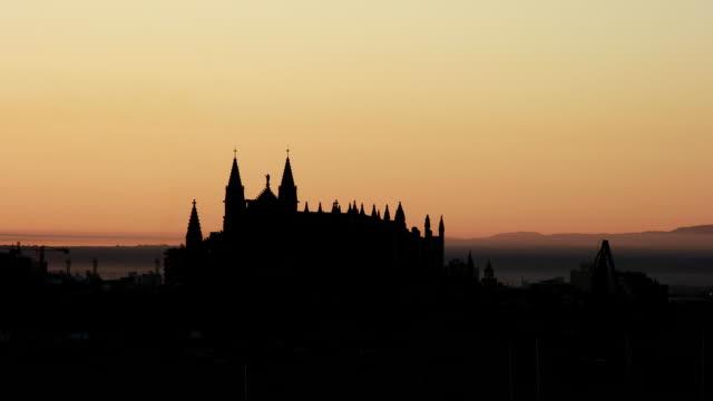 Palma de Mallorca cathedral sunrise video