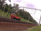 PALRailcar moving  down. video