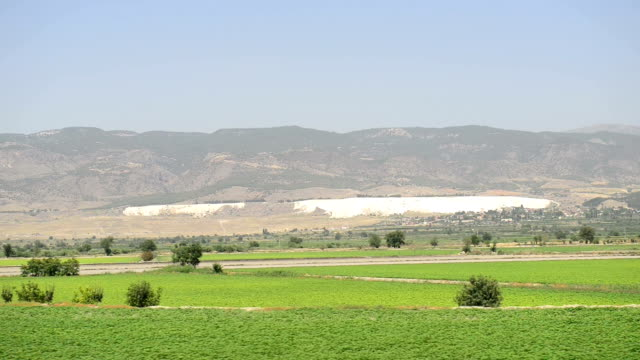 Pamukkale seen from train video
