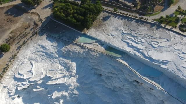 Pamukkale-Hierapolis aerial view video