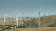 Pan Across Wind Farm video