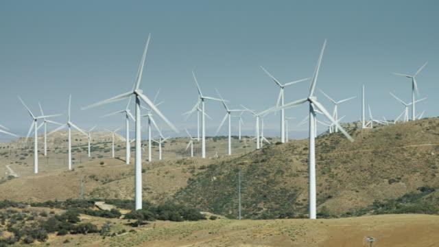 Pan Across Wind Farm video