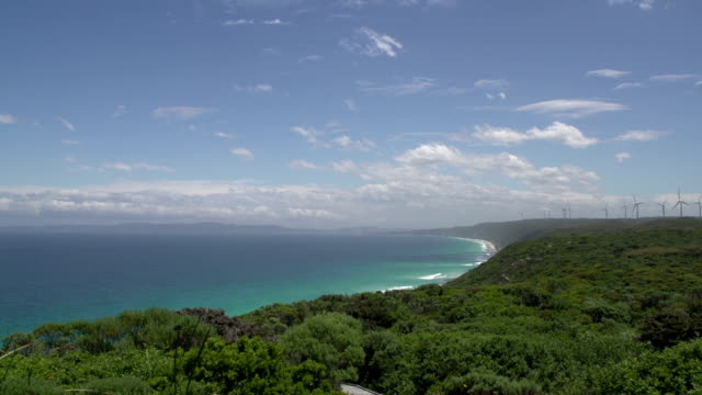 Pan from the Southern Ocean coast video