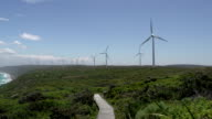 Pan from Wind farm at Albany video