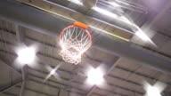 Pan of Basketball Goal video