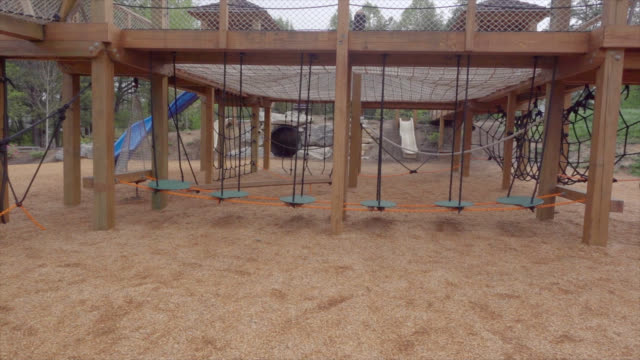 Pan of empty playground video