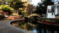 Pan of the Riverwalk in San Antonio video