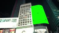 Pan over Green screen Chroma Key New York City video