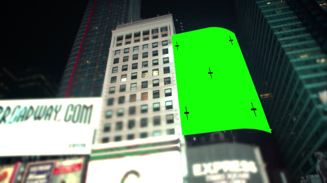 Pan over Green screen Chroma Key New York City video